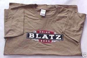 Blatz beer, brewery Medium tan t shirt