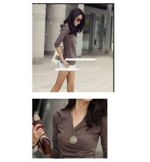 New Stylish womens Ladys long sleeve casual tops & blouse T shirt 3