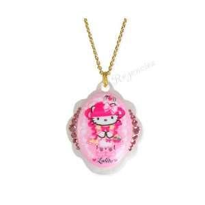 Tarina Tarantino Hello Kitty Pink Head Gothic Lolita Baroque Necklace