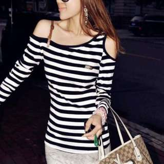 sexy long Sleeve One Shoulder Off Top/T Shirt *95