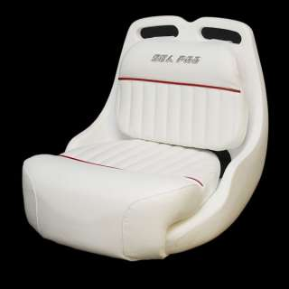 SEA PRO WHITE / CRANBERRY BOAT BUCKET SEAT