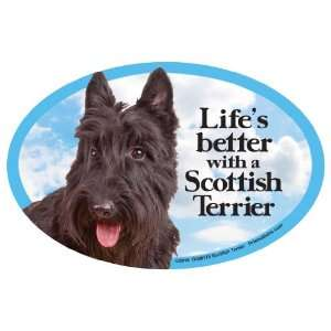 Scottish Terrier Oval Dog Magnet for Cars: Pet Supplies