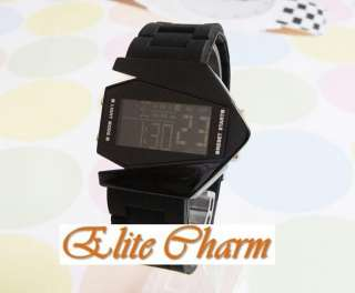 100% new Multi color LED B 2 Bomber Mens Electronic Watch Black