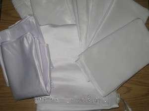 Taffeta Satin Organza Shawl Wrap Scarf Wedding Bridal White NEW