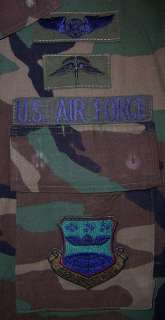 USAF BDU Camo Shirt with HALO Jump Wings and Patches