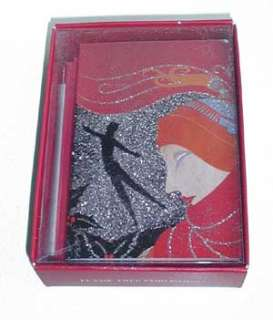ERTE Christmas Cards Christmas 1930 Boxed Set Red Deco