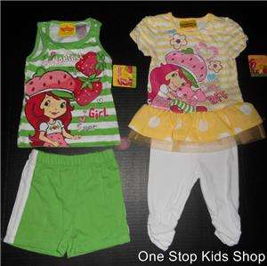 STRAWBERRY SHORTCAKE Toddler Girls 24 Mo 2T 3T 4T Set OUTFIT Shirt