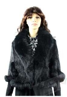 Branded NEW High Quality Geniue Knitted Mink Fur with Fox Fur Collar