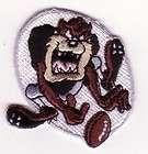 Looney Tunes Taz Tasmanian Devil Football Character Embroidery