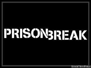 Prison Break Michael Scofield Logo Decal Sticker (2x)