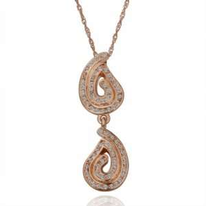 Rose Gold Swarovski Elements Creative Style Pendant 18k Gold Plated