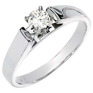 Gorgeous Womens 14k White gold (1CT) Moissanite Solitaire Engagement