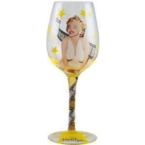Marilyn Monroe Film Star Marilyn 15 Ounce Wine Glass