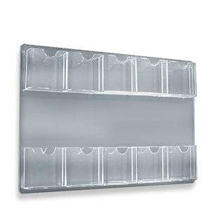 ten pocket Wall Mount literature rack display 10 multi brochure Holder
