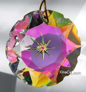 Star Etched 50mm AB Austrian Crystal Prism SunCatcher