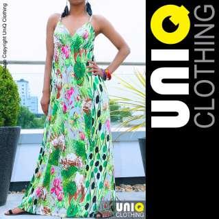 UNIQ US Long Womens MAXI Summer DRESS Boho/Hippie/Evening/Cocktail