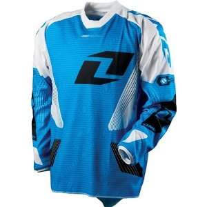 One Industries Carrera Mens Carbon Off Road Motorcycle Jersey   Blue