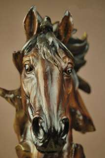 Large Resin Horse Head Bust Statue Figure 11High