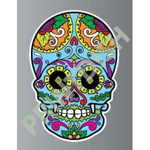 Sugar skull 3 5 sticker vinyl decal 3 x 2