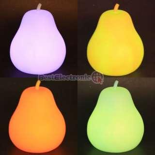 NEW Colorful LED light Orange Pear Nightlight Lamp L size