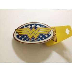 Comic Wonder Woman Red and Yellow Star Oval Belt Buckle. Everything