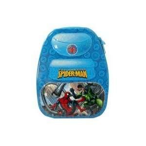 Amazing Spider Man Blue Backpack Shaped Tin Storage Box Toys & Games
