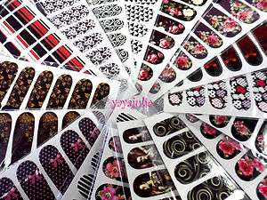 Nail Art Decal Sticker Water Slide Tattoo Transfer W2