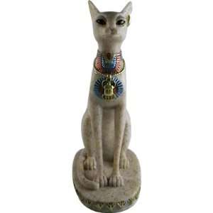EGYPTIAN Granit CAT STATUE. EGYPT GODDESS BAST FIGURINE   Granit