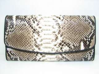 Genuine PYTHON Snake Leather Women Clutch Purse Wallet