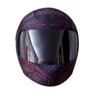 SkullSkins Carbon Fiber Gray Motorcycle Helmet Street Skin