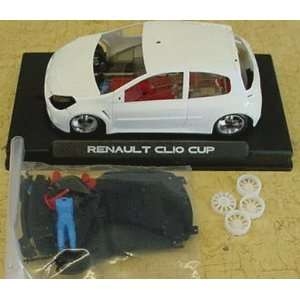 Renault Clio Cup Slot Car Body Kit White (Slot Cars) Toys & Games