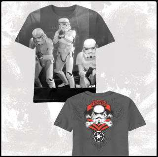 Star Wars Storm Trooper Open Doors Rare Double Sided Gray T Shirt New