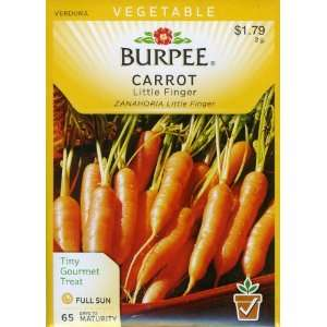 Burpee 56333 Carrot Little Finger Seed Packet Patio, Lawn