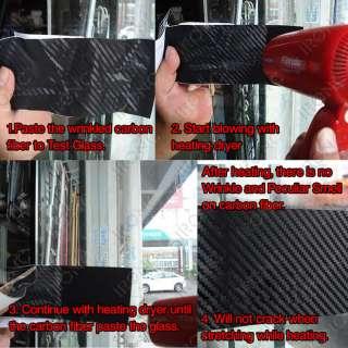 3D Carbon Fiber Vinyl Sheet Wrap Wrapping Twill Weave 20cm x 12m (8 x
