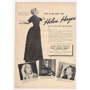 1940 Helen Hayes Photo Columbia Network CBS Radio Print Ad