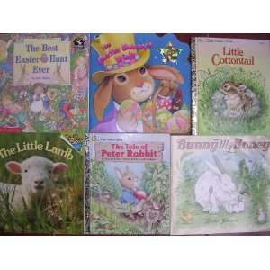 Books Box Set of 6 ; Little Cottontail, Lamb, Rabbit, Best Easter Hunt