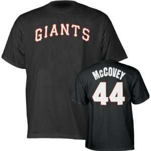 San Francisco Giants Willie McCovey Name and Number Black