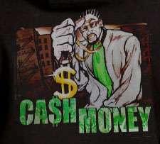 Cash Money Hoodie harlem gangster maffia dollar chain
