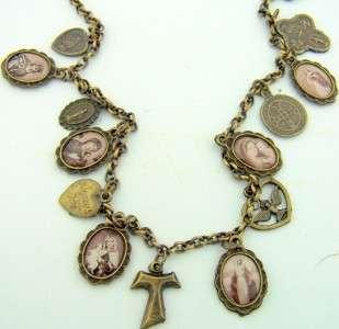 Franciscan Tau Cross Catholic Necklace Medal St. Saint Benedict