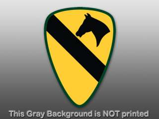 1st Cavalry Logo Sticker   decal army badge first seal