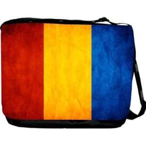Rikki KnightTM Romania Flag Messenger Bag   Book Bag