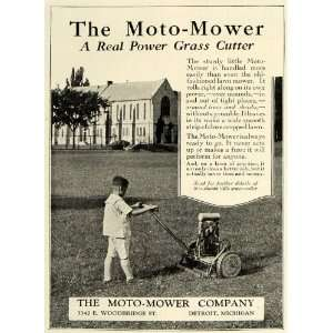 1924 Ad Moto Mower Power Yard Grass Cutter Boy Lawn
