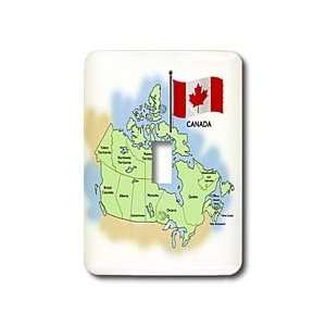 com 777images Flags and Maps   North America   Map and Flag of Canada