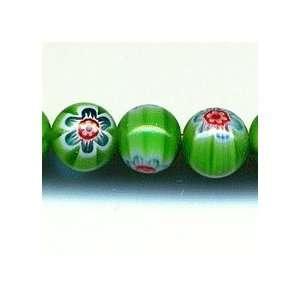 Chevron style 8mm round green blue red
