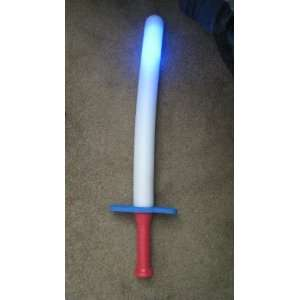 Foam Sword with Flashing Lights: Toys & Games