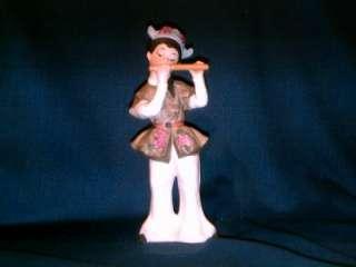 Young Japanese Boy Figurine Ucagco UCGC Shakuhachi