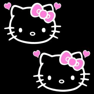 Hello Kitty SOFT PINK BOW 2 x 3 inch Decal Sticker