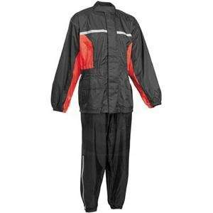 River Road High N Dry Two Piece Rainsuit   Large/Black/Red
