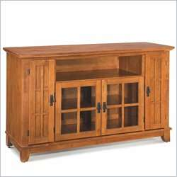 Home Styles Arts & Crafts Entertainment Credenza Cottage Oak TV Stand