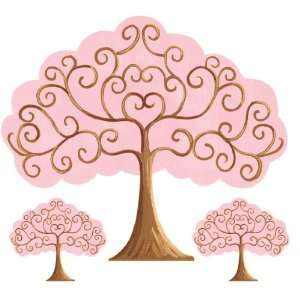 : Pink & Brown Grow Tree Wall Sticker by Sherri Blum: Home & Kitchen